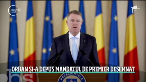 Ludovic Orban şi-a depus mandatul de premier desemnat