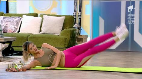 Fitness cu Diana Stejereanu, la Neatza cu Răzvan și Dani. Cele mai eficiente exerciții pentru acasă