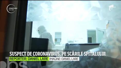 Coronavirusul se extinde în ţara noastră! Suspecţi de coronavirus, la plimbare pe scările spitalului din Galați