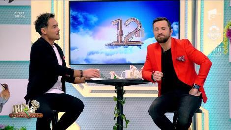 """A venit primăvara și la """"Neatza cu Răzvan și Dani"""". Răzvan Simion a împărțit flori colegelor de platou. Reacția lui Dani: """"Eu pregătesc lucruri mărețe!"""""""
