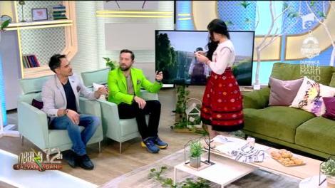 """Ana-Maria Ababei cântă, la Neatza cu Răzvan și Dani, melodia """"Bine-mi pare că-s ieșeancă"""""""