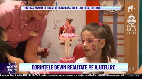 Campania AjutEu! Petrecere surpriză pentru un Ana Maria, un copil care, rătăcind printre spitale, operaţii complicate, suferinţă şi depresie, a uitat pur şi simplu să zâmbească