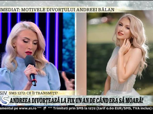 Xtra Night Show. Andreea Bălan divorțează la fix un an de când era să moară: Am tras de relație. Am încercat să rezolvăm problema