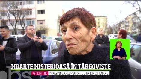 Moarte învăluită în mister la Târgoviște. O femeie a fost găsită moartă în fața unui bloc. Ipoteza luată în calcul de anchetatori