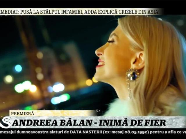 Xtra Night Show. Andreea Bălan cântă melodia Inimă de fier