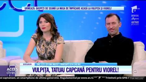 """Vulpița și Viorel, la cuțite! Veronica și-a făcut un tatuaj, dar soțului nu îi place: """"Cred că vine de la numele lui Marian!"""""""