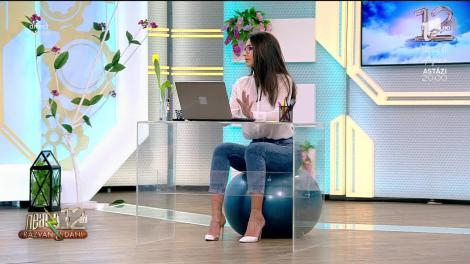 Fitness cu Diana Stejereanu, la Neatza cu Răzvan și Dani. Cele mai eficiente exerciții cu fitball-ul la birou