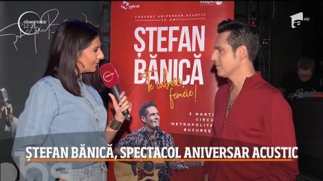 """Ștefan Bănică a susținut concertul acustic """"Te iubesc, femeie!"""""""