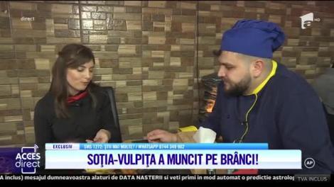 Viorel, la Blăgeşti, Vulpiţa, la muncă! Veronica Stegaru s-a angajat la un restaurant din București