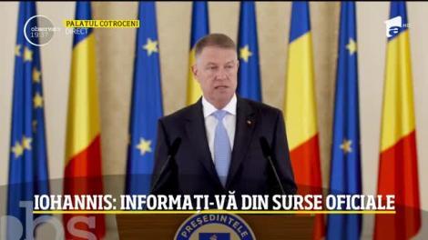 Preşedintele Klaus Iohannis, anunţ de ultim moment pentru români