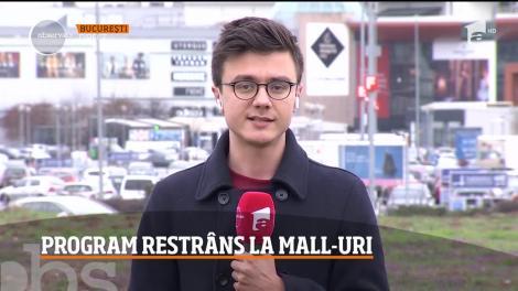 Program restrâns la mall-urile din România: vor funcţiona între orele 12 și 20