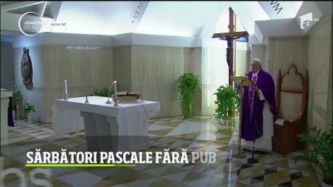 Coronavirusul a lovit în plin Italia! Papa Francisc a decis ca slujba de Paşte va fi oficiată fără oameni, la Vatican