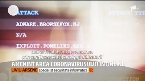 Amenințarea coronavirusului în online