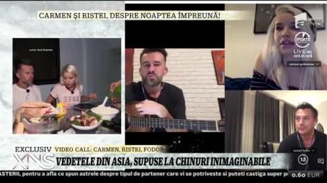 Vedetele din Asia Express, supuse la chinuri inimaginabile! Carmen Grebenișan și Florin Ristei vorbesc de noaptea petrecută împreună