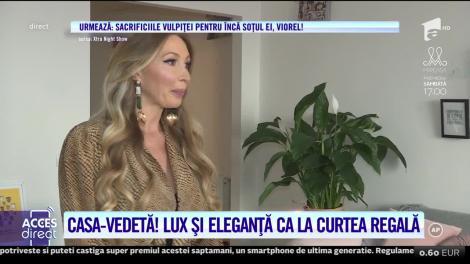 Bianca Marca, lux şi eleganţă ca la curtea regală! Cum arată casa în care se filmează reclame pe bandă rulantă