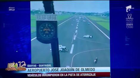 Smiley news: Un avion Airbus A340 din Spania, împiedicat cu vehicule de intervenție să aterizeze în Ecuador!