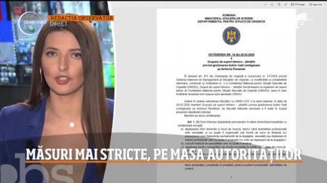 Observator Update, 20 martie, ora 12:00: Măsuri mai stricte, pe masa autorităților