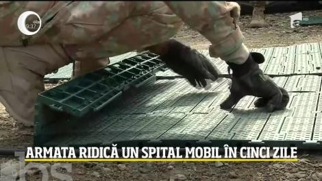 Armata română ridică un spital mobil în cinci zile