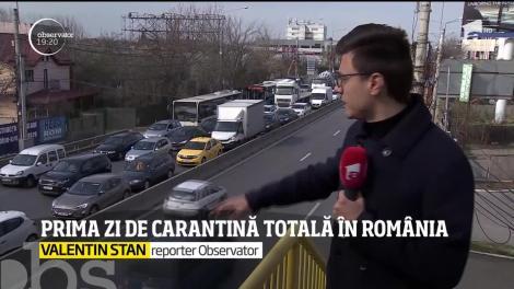 Românii au voie pe stradă doar cu învoire scrisă! Străzile din Capitală au fost mai aglomerate faţă de zilele trecute
