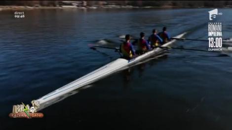 Echipa Națională de Canotaj se antrenează pe Lacul Snagov, după ce s-au întors din cantonamentul din Italia