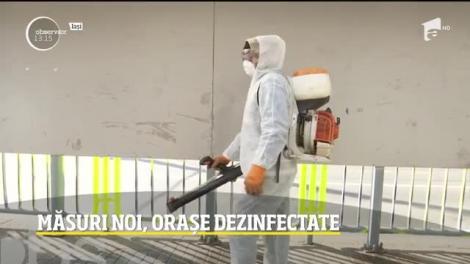 Măsuri noi, orașe dezinfectate de autorități