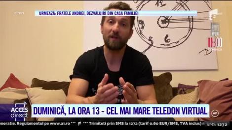 """Dorian Popa se alătură teledonului """"Români Împreună - Donează și Salvează"""""""
