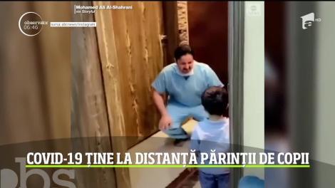 Cum reacționează un medic atunci când ajunge acasă de la spital, iar copilul vrea să-l îmbrățișeze. Imaginile sunt virale