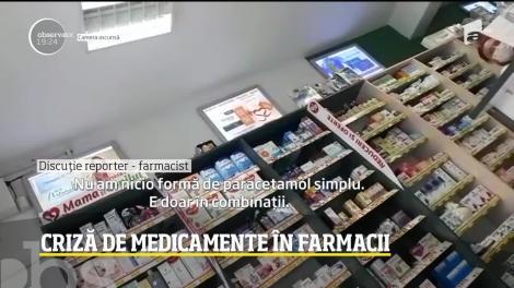 Criză acută în farmacii! Paracetamolul nu mai este de găsit