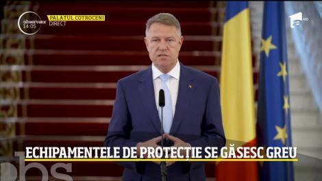 Președintele Klaus Iohannis, noi declarații: România va produce echipamente de protecție