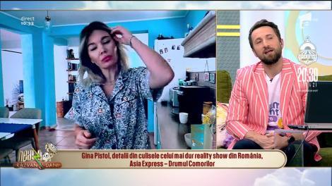 """Gina Pistol, în direct, din autoizolare! Ce nu se vede în """"Asia Express"""". """"Erau dimineți în care nu aveam apă, ca să mă spăl"""" – VIDEO"""