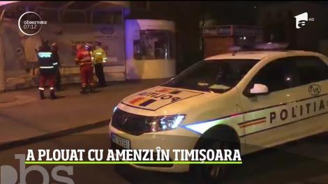 A plouat cu amenzi în Timișoara. Oamenii care au ieşit din case au fost sancționați dur