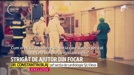 """Nu s-a rugat la Dumnezeu, ci la români! O asistentă din Deva s-a filmat în spital, cu lacrimi în ochi: """"Atât vă cer. Nu v-am cerșit"""""""