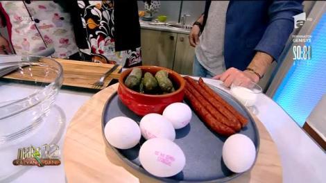Neatza la Cuțite: Micul dejun Cătălin Oprișan - omletă cu cârnați