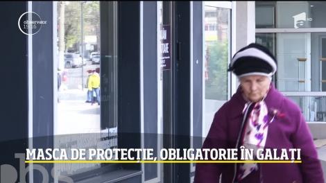 Masca de protecție, obligatorie în Galați