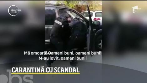 """""""Mă omoară! Mi-a rupt mâna, oameni buni!"""". Intervenţie în forță a jandarmilor, la Timişoara, împotriva unor români care nu respectă carantina! Imagini tulburătoare! VIDEO"""