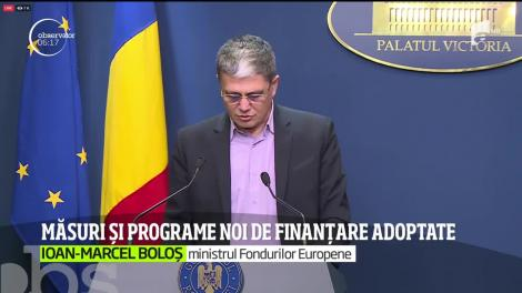 Măsuri și programe noi de finanțare adoptate