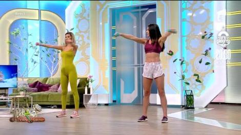 WOW, ce apariții incendiare? Diana Stejereanu și Ramona Olaru, îmbrăcate extrem de sexy, te învață cum să-ți tonifiezi brațele