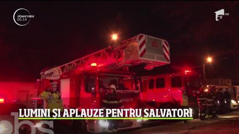 Lumini și aplauze pentru salvatori, la Timișoara