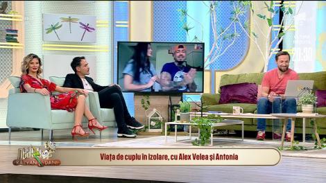 Viața de cuplu în izolare, cu Alex Velea și Antonia. Cum aratră o zi din viața lor