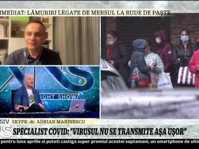 """Medicul Adrian Marinescu explică de ce Covid-19 face multe victime tinere în România: """"Expunerea în faţa unei cantităţi mari de virusuri este una dintre cauze"""""""