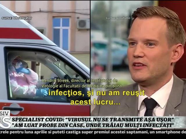 "Virusolog german: ""Virusul nu se transmite aşa uşor"""