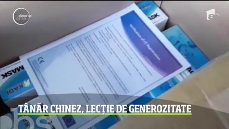 Lecţie de generozitate oferită de un tânăr chinez stabilit în România