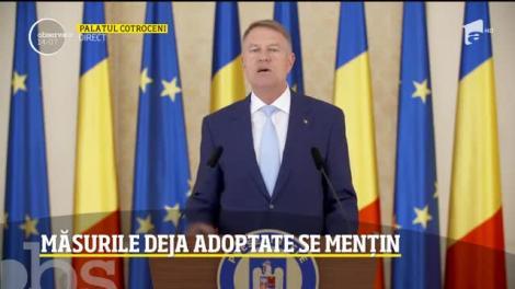 Președintele Klaus Iohannis prelungește starea de urgență: Școlile râmân închise