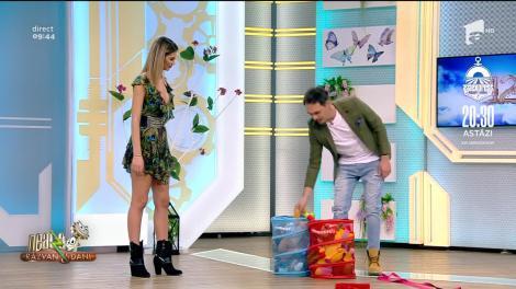 Provocare Neatza! Răzvan Simion, Dani Oțil și Ramona Olaru au tras cu praștia la coș