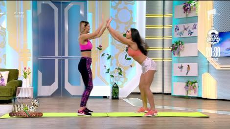 Wow! Ramona Olaru și Diana Stejereanu, antrenament pentru cuplurile în izolare! Scene incendiare la Neatza cu Răzvan și Dani - VIDEO