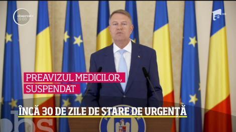Klaus Iohannis a prelungit cu 30 de zile starea de urgenţă. Noile măsuri anunţate de şeful statului