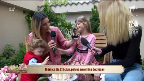 Mămica Ela Crăciun, petrecere online de ziua ei! Ce dorință și-a pus, atunci când a primit tortul de la echipa Neatza cu Răzvan și Dani