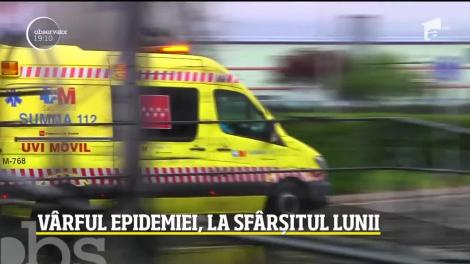 Vârful epidemiei de coronavirus în România, la sfârșitul lunii aprilie