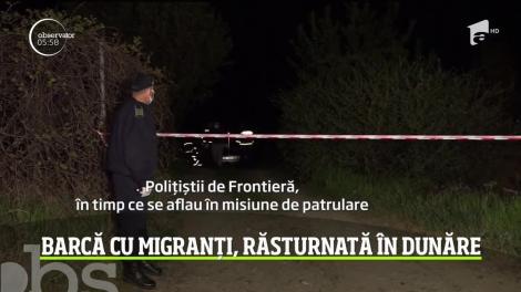 Barcă cu migranți, răsturnată în Dunăre