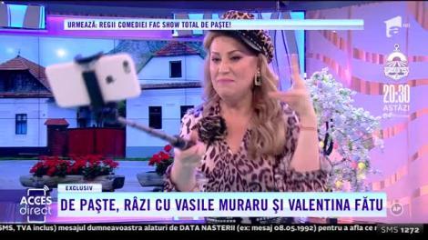 """""""E galanton primarul! Nu se uită la bani, mai ales dacă-s ai noștri"""". Vasile Muraru și Valentina Fătu, spectacol, la """"Acces Direct""""! O româncă întoarsă din Italia și un sătean mucalit, dialog savuros! - VIDEO"""